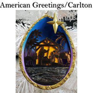 Carlton Cards Nativity Silhouette Ornament